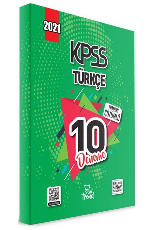 2021 KPSS Türkçe Tamamı Çözümlü 10 Deneme Yeni Trend Yayınları