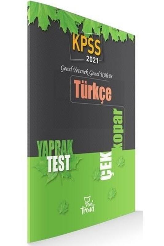 2021 KPSS Türkçe Yaprak Test Yeni Trend Yayınları