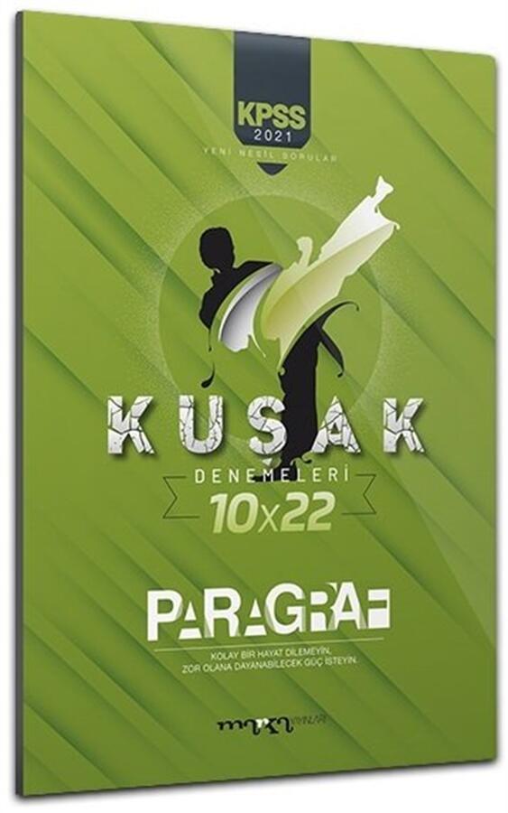 2021 KPSS Yeni Nesil Kolaydan Zora 10x22 Paragraf Kuşak Deneme Marka Yayınları
