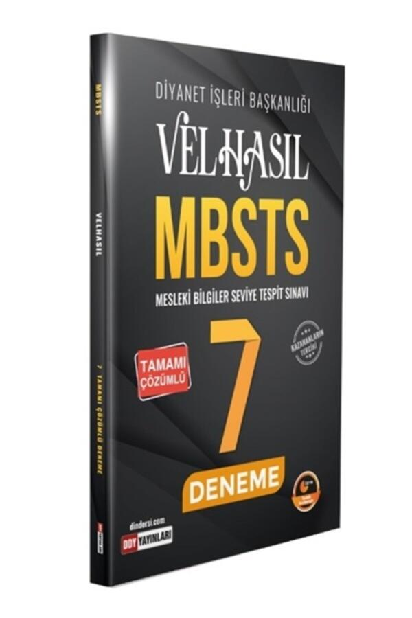 2021 Velhasıl MBSTS Tamamı Çözümlü 7 Deneme DDY Yayınları