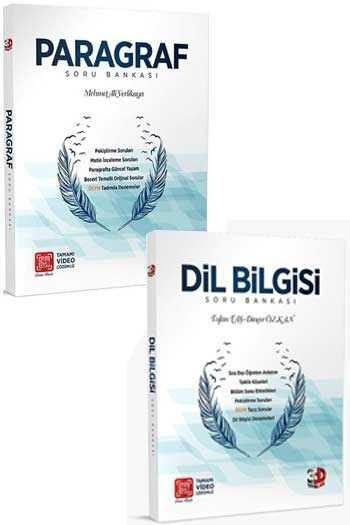 3D Yayınları Paragraf-Dil Bilgisi Tamamı Video Çözümlü Soru Bankası Seti