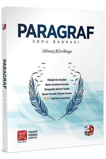 3D Yayınları Paragraf Tamamı Video Çözümlü Soru Bankası