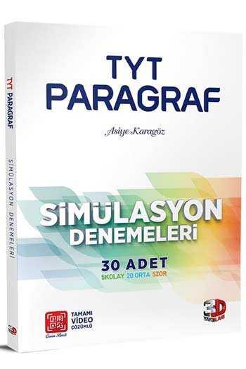3D Yayınları TYT Paragraf Simülasyon 30'lu Denemeleri