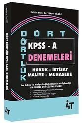 4T Yayınları - 4T Yayınları Dört Dörtlük KPSS A Denemeleri