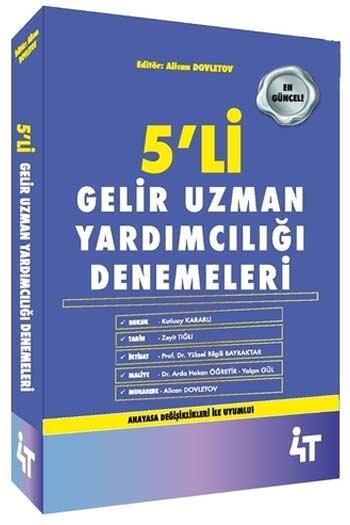4T Yayınları Gelir Uzman Yardımcılığı 5 Deneme