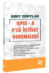 4T Yayınları - 4T Yayınları KPSS A Grubu Dört Dörtlük 4'lü İktisat Denemeleri
