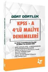 4T Yayınları - 4T Yayınları KPSS A Grubu Dört Dörtlük 4'lü Maliye Denemeleri