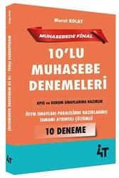 4T Yayınları - 4T Yayınları KPSS ve Kurum Sınavları İçin Muhasebe 10'lu Denemeleri