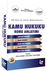 4T Yayınları - 4T Yayınları KPSS ve Mülakat Sınavları İçin Kamu Hukuku Konu Anlatımı 6. Baskı