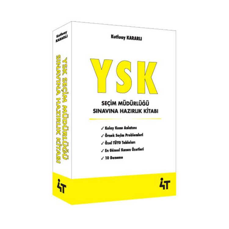 4T Yayınları YSK Seçim Müdürlüğü Sınavına Hazırlık Kitabı