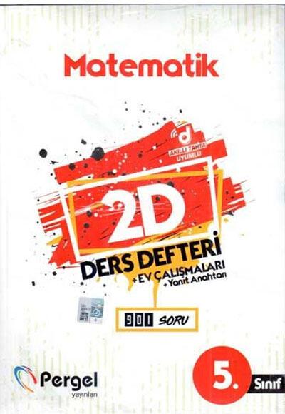 5. Sınıf Matematik 2D Ders Defteri Ev Çalışmaları Pergel Yayınları