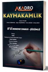 A Kadro Yayınları - A Kadro Yayınları 2020 Kaymakamlık Çözümlü 5'li Deneme Sınavı