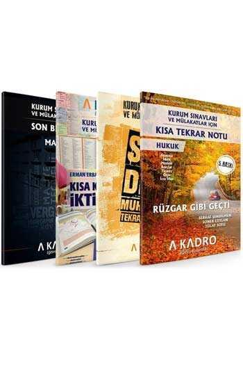 A Kadro Yayınları KPSS A Grubu ve Kurum Sınavları İçin Son Tekrar Notları 4 Kitap