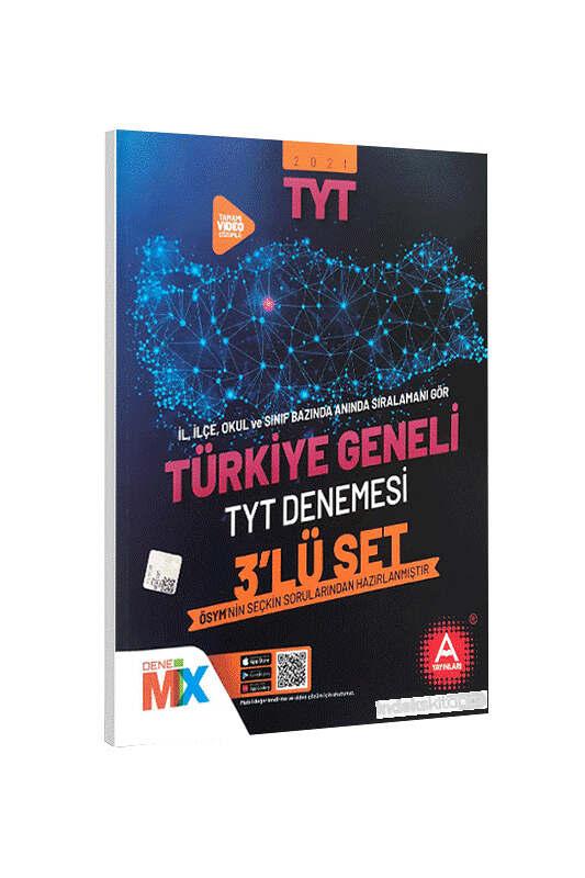 A Yayınları 2021 Türkiye Geneli Çıkmış Sorular Denemesi 3 lü Set