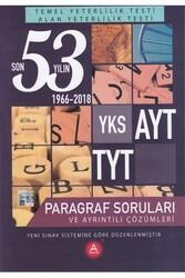 A Yayınları - A Yayınları TYT AYT Paragraf Son 53 Yılın Çıkmış Soruları ve Ayrıntılı Çözümleri