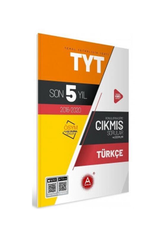 A Yayınları TYT Türkçe Son 5 Yıl Konularına Göre Tamamı Çözümlü Çıkmış Sorular