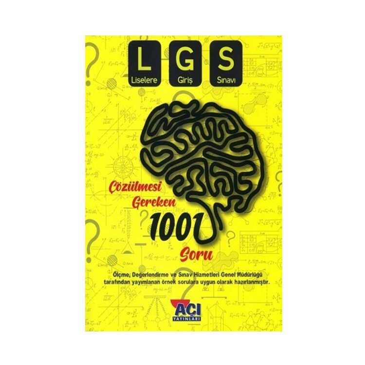 Açı Yayınları 8. Sınıf LGS Çözülmesi Gereken 1001 Soru