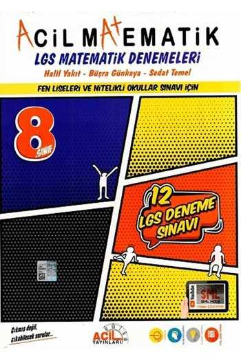Acil Yayınları 8. Sınıf LGS Acil Matematik 12'li Denemeleri