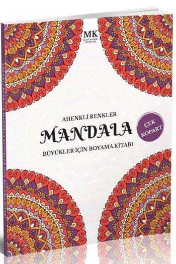 Ahenkli Renkler Büyükler İçin Boyama Kitabı Mandala MK Mavi Kalem Yayınları