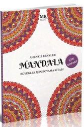 Mavi Kalem Yayınları - Ahenkli Renkler Büyükler İçin Boyama Kitabı Mandala MK Mavi Kalem Yayınları