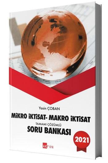 Akfon Yayınları 2021 Mikro İktisat Makro İktisat Tamamı Çözümlü Soru Bankası