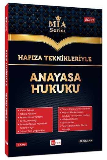 Akfon Yayınları Hafıza Teknikleriyle Anayasa Hukuku MİA Serisi