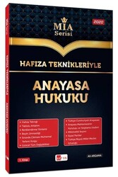 Akfon Yayınları - Akfon Yayınları Hafıza Teknikleriyle Anayasa Hukuku MİA Serisi