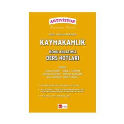 Akfon Yayınları - Akfon Yayınları Kaymakamlık Konu Anlatımlı Ders Notları