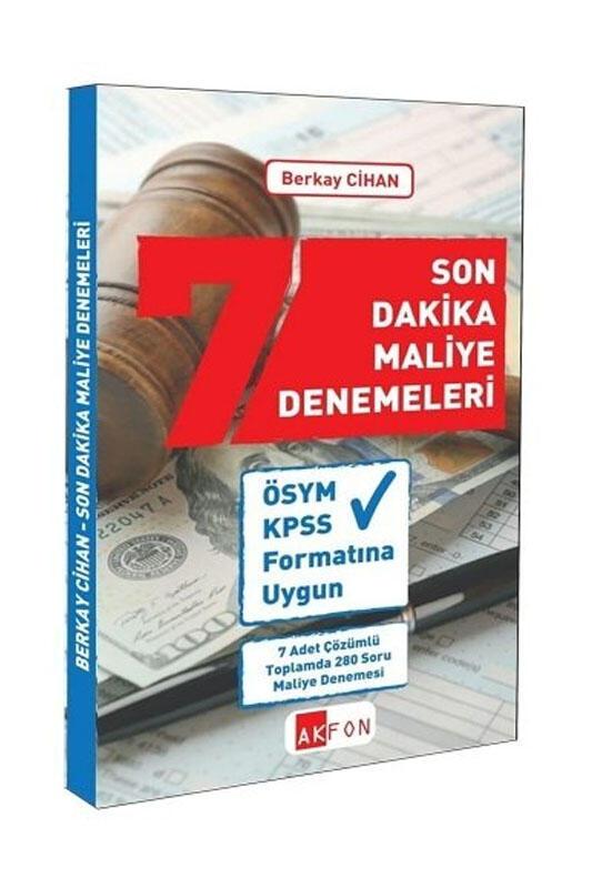 Akfon Yayınları KPSS A Son Dakika Maliye 7 Deneme