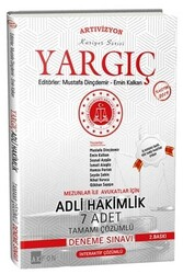 Akfon Yayınları - Akfon Yayınları Yargıç Adli Hakimlik Tamamı Çözümlü 7 Deneme Sınavı