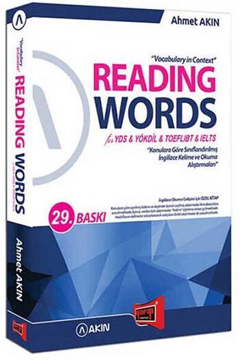 Akın Dil & Yargı Yayınları Reading Words for YDS YÖKDİL TOEFL IBT IELTS 29. Baskı