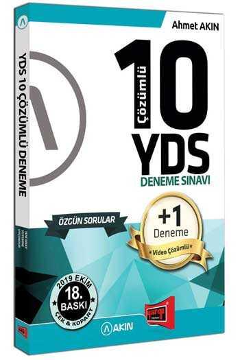 Akın Dil & Yargı Yayınları YDS 10 +1 Çözümlü Özgün Deneme Sınavı