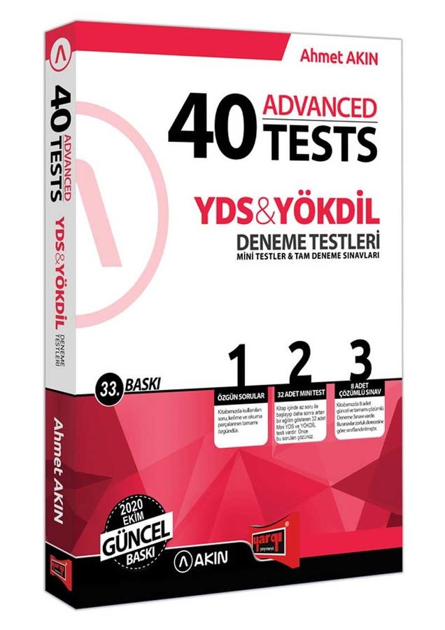 Akın Dil & Yargı Yayınları YDS & YÖKDİL 40 Advanced Tests 33. Baskı