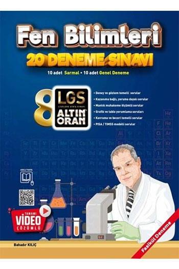 Altın Oran 8. Sınıf LGS Fen Bilimleri Tamamı Video Çözümlü 20 Deneme