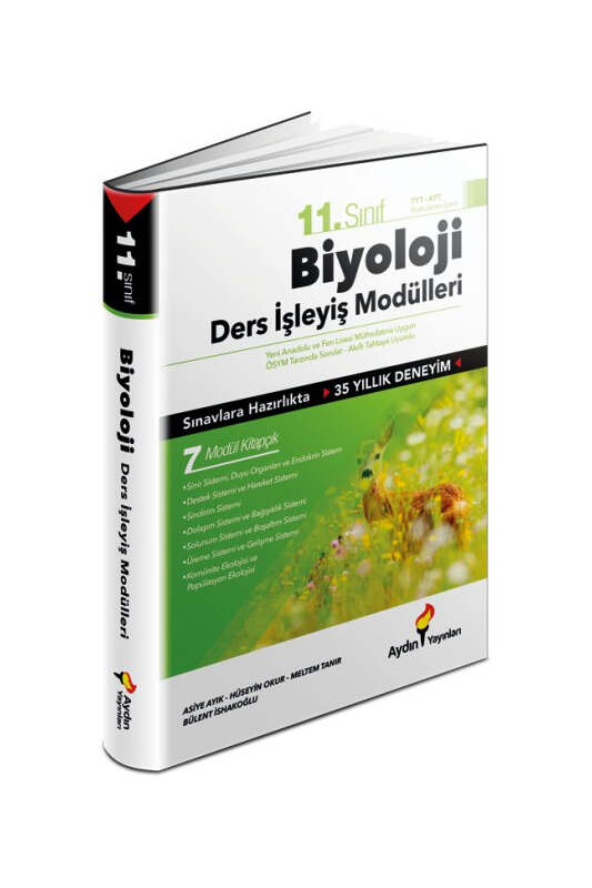 Aydın Yayınları 11. Sınıf Biyoloji Konu Anlatım Ders İşleyiş Modülleri
