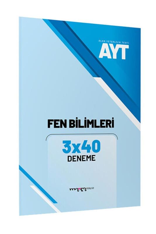 AYT Fen Bilimleri 3x40 Deneme Marka Yayınları