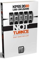 Benim Hocam Yayıncılık - Benim Hocam Yayınları 2020 KPSS Lise Ön Lisans MOTTO Türkçe Ders Notları