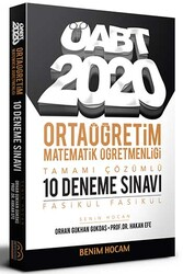 Benim Hocam Yayıncılık - Benim Hocam Yayınları 2020 ÖABT Ortaöğretim Matematik Öğretmenliği Tamamı Çözümlü 10 Fasikül Deneme