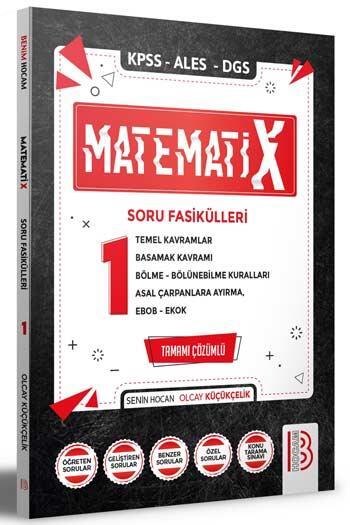 Benim Hocam Yayınları 2022 KPSS ALES DGS MatematiX Soru Fasikülleri 1
