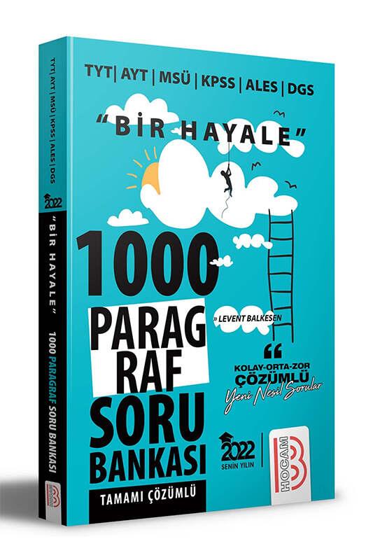 Benim Hocam Yayınları 2022 Bir Hayale Serisi Tüm Sınavlar İçin Paragraf Tamamı Çözümlü Soru Bankası