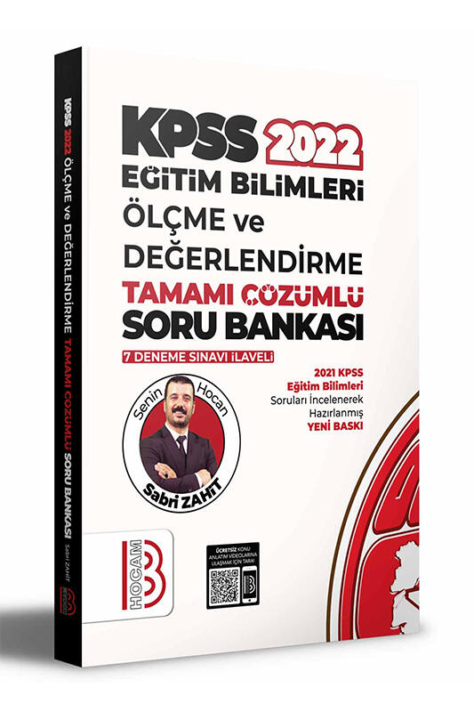 Benim Hocam Yayınları 2022 KPSS Eğitim Bilimleri Ölçme ve Değerlendirme Tamamı Çözümlü Soru Bankası 7 Deneme İlaveli