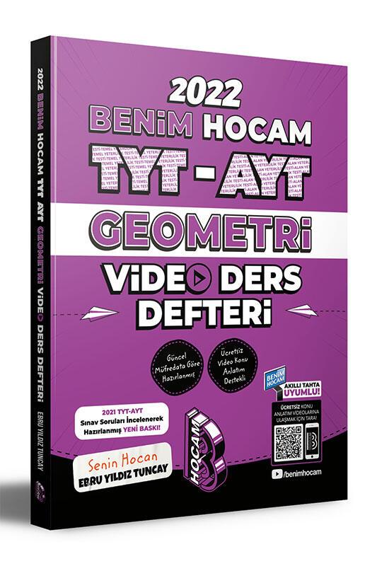 Benim Hocam Yayınları 2022 TYT AYT Geometri Video Ders Defteri