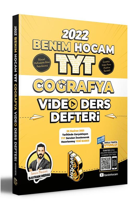 Benim Hocam Yayınları 2022 TYT Coğrafya Video Ders Defteri Hediyeli