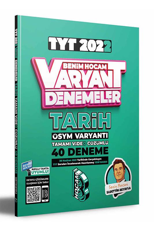 Benim Hocam Yayınları 2022 TYT Tarih Tamamı Video Çözümlü 40 Deneme Sınavı