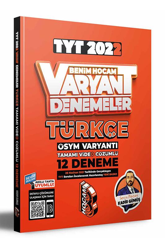 Benim Hocam Yayınları 2022 TYT Türkçe Tamamı Video Çözümlü 12 Deneme Sınavı