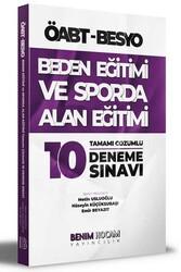 Benim Hocam Yayıncılık - Benim Hocam Yayınları ÖABT Beden Eğitimi ve Sporda Alan Eğitimi Tamamı Çözümlü 10 Deneme