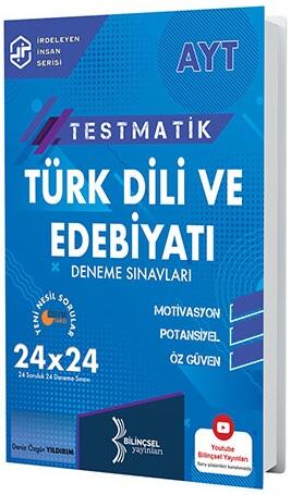 Bilinçsel Yayınları 2021 AYT Testmatik Türk Dili ve Edebiyatı Deneme Sınavları
