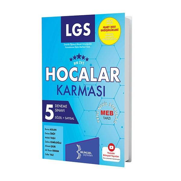 Bilinçsel Yayınları 2021 LGS Hocalar Karması 5 Deneme Sınavı