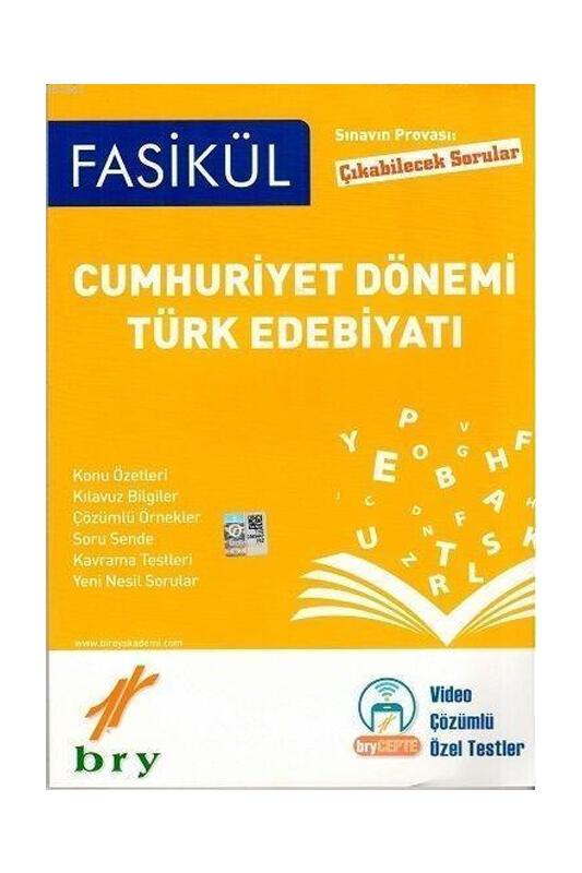 Birey Yayınları Cumhuriyet Dönemi Türk Edebiyatı Fasikülleri