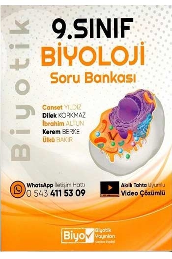 Biyotik Yayınları 9. Sınıf Biyoloji Soru Bankası